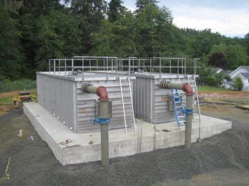 Two MRI Package Units for water treatment at installation provide maximum flow in minimal space